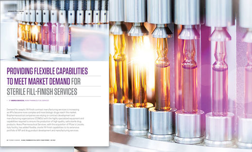 PROVIDING FLEXIBLE CAPABILITIES TO MEET MARKET DEMAND FOR STERILE FILL-FINISH SERVICES